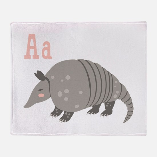 Alphabet Armadillo Throw Blanket