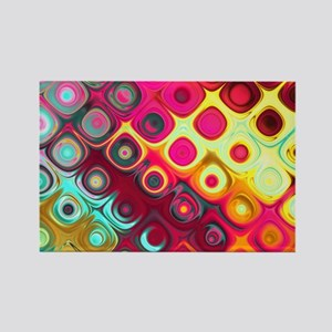Megafunky Rainbow patterns Rectangle Magnet