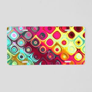 Megafunky Rainbow patterns Aluminum License Plate