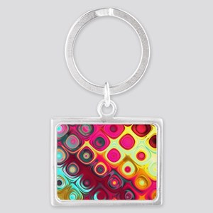 Megafunky Rainbow patterns Landscape Keychain