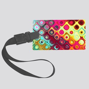 Megafunky Rainbow patterns Large Luggage Tag