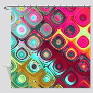 Megafunky Rainbow patterns Shower Curtain