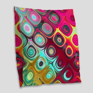 Megafunky Rainbow patterns Burlap Throw Pillow