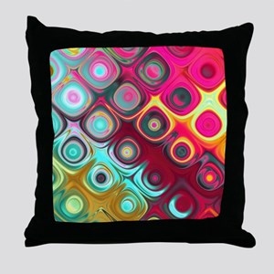 Megafunky Rainbow patterns Throw Pillow