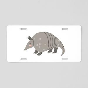 Armadillo Animal Aluminum License Plate