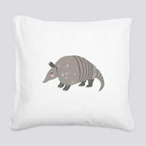 Armadillo Animal Square Canvas Pillow