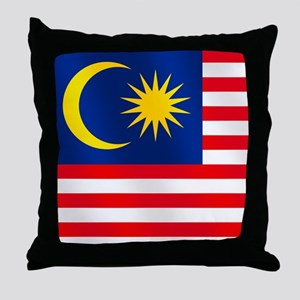 Flag of Malaysia Throw Pillow