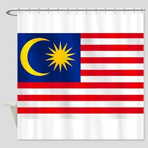 Flag of Malaysia Shower Curtain