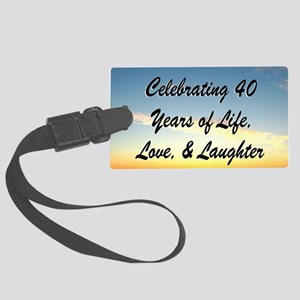 40TH BLESSING Large Luggage Tag