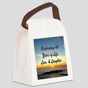 40TH BLESSING Canvas Lunch Bag