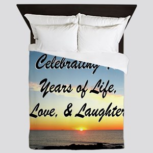 40TH BLESSING Queen Duvet