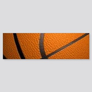 Basketball Big Wide Bumper Sticker