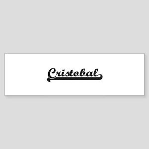 Cristobal Classic Retro Name Design Bumper Sticker