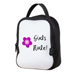 Girls Rule Neoprene Lunch Bag