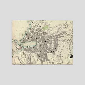 Vintage Map of Marseille France (18 5'x7'Area Rug