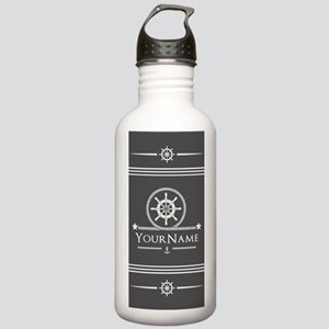 Nautical Gray Anchor R Stainless Water Bottle 1.0L