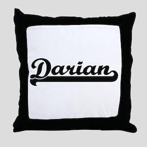 Darian Classic Retro Name Design Throw Pillow