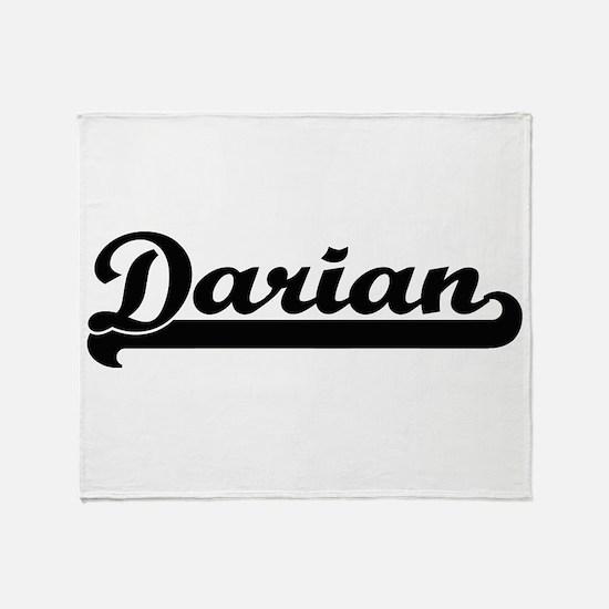 Darian Classic Retro Name Design Throw Blanket