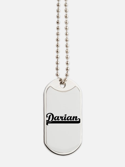 Darian Classic Retro Name Design Dog Tags