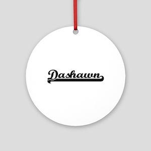 Dashawn Classic Retro Name Design Ornament (Round)