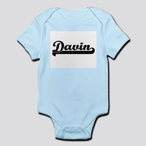 Davin Classic Retro Name Design Body Suit