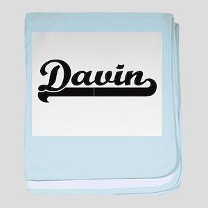 Davin Classic Retro Name Design baby blanket