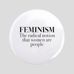 """Feminism 3.5"""" Button"""