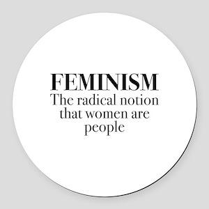 Feminism Round Car Magnet