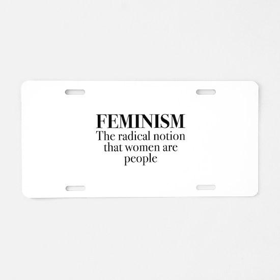 Feminism Aluminum License Plate
