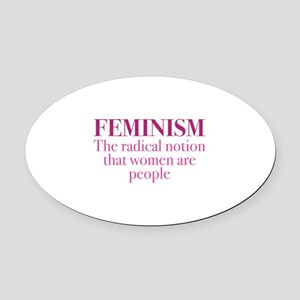 Feminism Oval Car Magnet