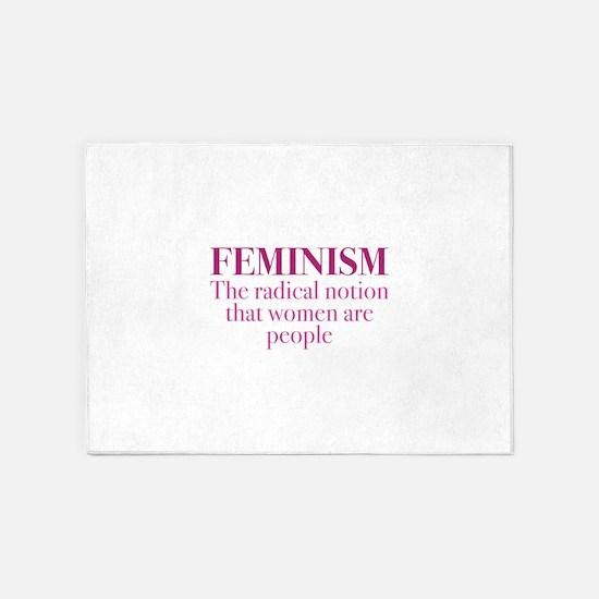 Feminism 5'x7'Area Rug