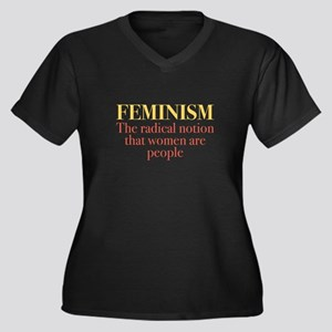 Feminism Women's Plus Size V-Neck Dark T-Shirt