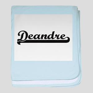 Deandre Classic Retro Name Design baby blanket