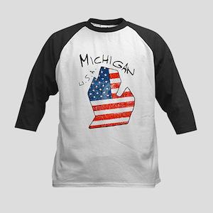 Grungy American flag inside Michigan State Basebal