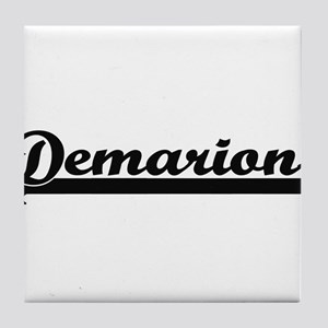 Demarion Classic Retro Name Design Tile Coaster