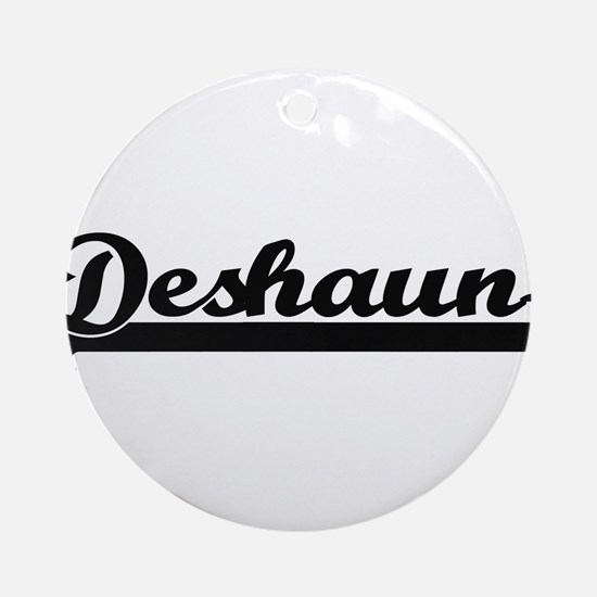 Deshaun Classic Retro Name Design Ornament (Round)