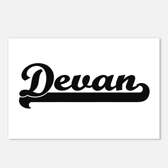 Devan Classic Retro Name Postcards (Package of 8)