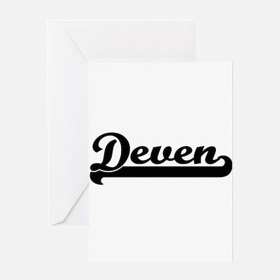 Deven Classic Retro Name Design Greeting Cards