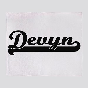 Devyn Classic Retro Name Design Throw Blanket