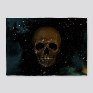 Space Skull 5'x7'Area Rug