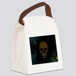 Space Skull Canvas Lunch Bag