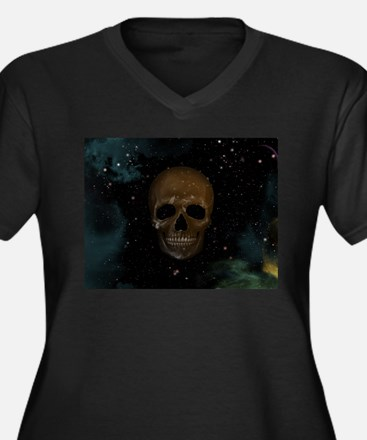 Space Skull Plus Size T-Shirt