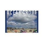 Ocean Grove Beach Rectangle Magnet (100 Magnets