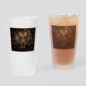 Angry Tiger Breaking Through Glass Drinking Glass
