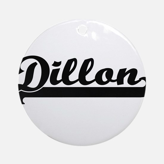 Dillon Classic Retro Name Design Ornament (Round)