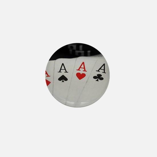 4 Aces Mini Button