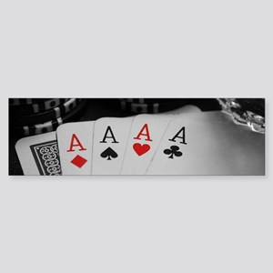 4 Aces Bumper Sticker