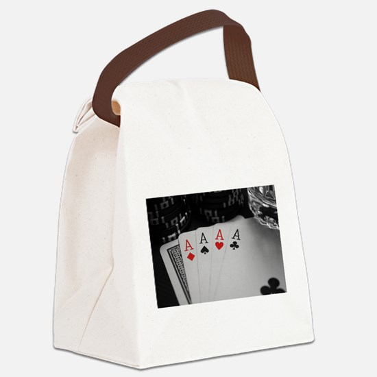 4 Aces Canvas Lunch Bag