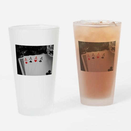 4 Aces Drinking Glass