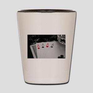 4 Aces Shot Glass